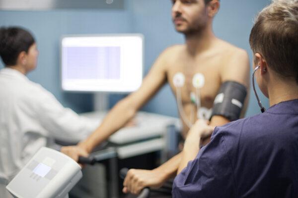 ECG da sforzo con cicloergometro